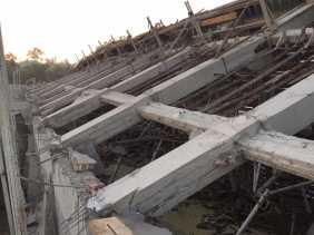 Diduga Ini Penyebab Robohnya Proyek Struktur Atap Rumah Pompa SPAM Durolis Tanjung Melawan