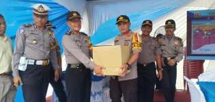 Kapolres Rohil Tinjau Pos Pengamanan Oprasi Lilin Muara Takus 2018