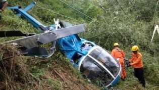 Korban Sebut Helikopter Jatuh Saat Akan Mendarat Darurat