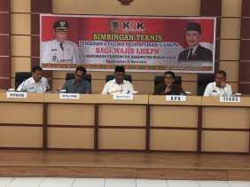 Bersama KPK, Plt Bupati Rohil Jamiludin Buka Sosialisasi Bintek e-Filling Aplikasi e-LHKPN