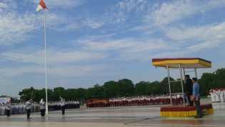 Plt Bupati Rohil Drs Jamiludin Pimpin Upacara Hardiknas