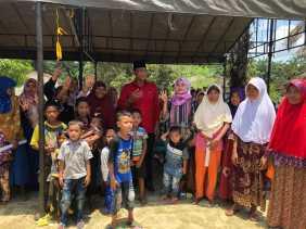 Ribuan Warga Sakai Bengkalis Nyatakan Coblos Paslon Andi - Suyatno