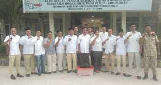 DPC Gerindra Rohil Daftarkan 45 Bacalegnya di KPUD