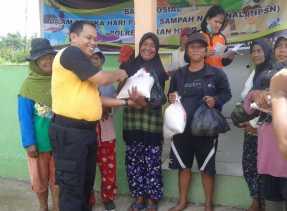 Peringati HPSN, Polres Rohil Adakan Baksos di TPA Bagansiapiapi