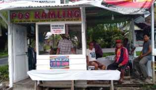 Support Kantibmas, Warga RT 011 Bagan Timur Bagansiapiapi Pasang WiFi di Pos Kamling
