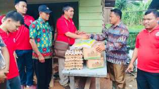 IDI Rohil Berikan Bantuan Sembako dan Obat-obatan Kepada Korban Banjir di Pekaitan