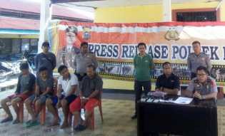 Polsek Bangko Amankan Oknum PNS Rohil Gelapkan 11 Mobil