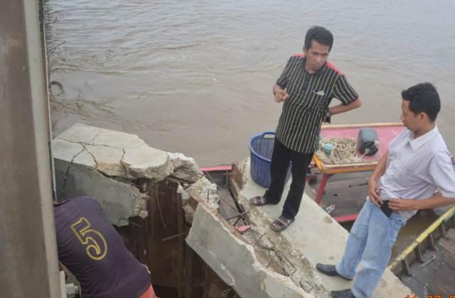 Turap Jembatan Jumrah Amblas, Legislatif Riau Minta Kementrian PU Turuni