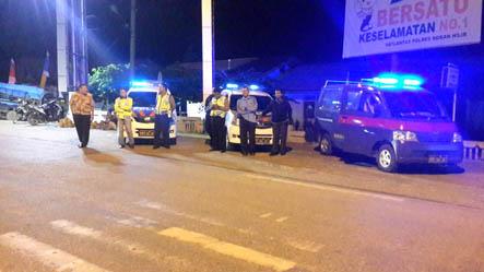 Sat Lantas Polsek Bagansinembah Patroli Malami