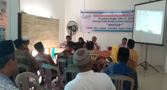 PLN Rayon Bagansiapiapi Sosialisasikan Listrik Pintar Prabayari