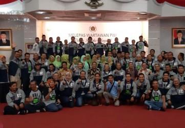 Sekdaprov Lepas Keberangkatan PWI Riaui