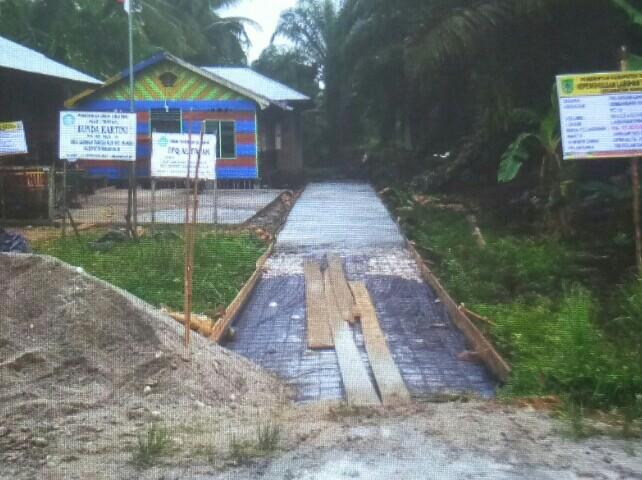 Bantah Tudingan Bangun Jl Pribadi Pakai DD, Pengulu Lab Tangga Hilir: Itu Untuk Kepentingan Paudi